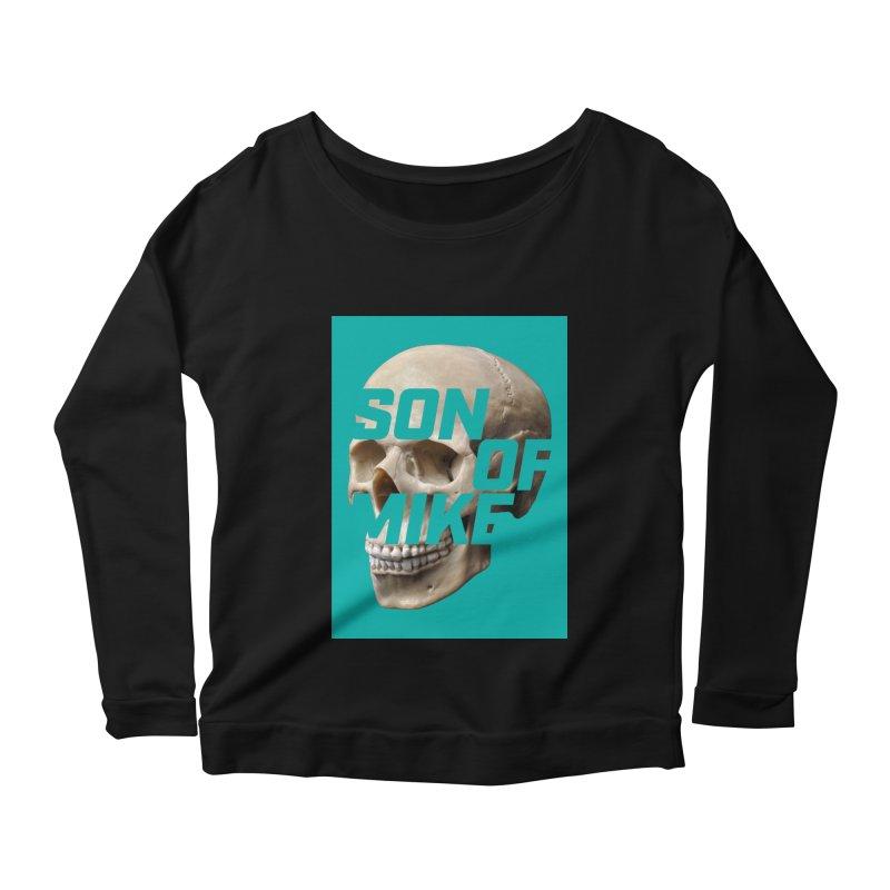 """SON OF MIKE """"Mint Skull"""" Women's Scoop Neck Longsleeve T-Shirt by Turkeylegsray's Artist Shop"""