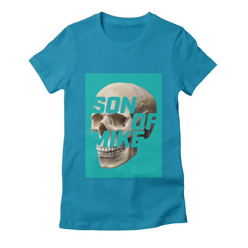 "SON OF MIKE ""Mint Skull"" Women's Fitted T-Shirt by Turkeylegsray's Artist Shop"