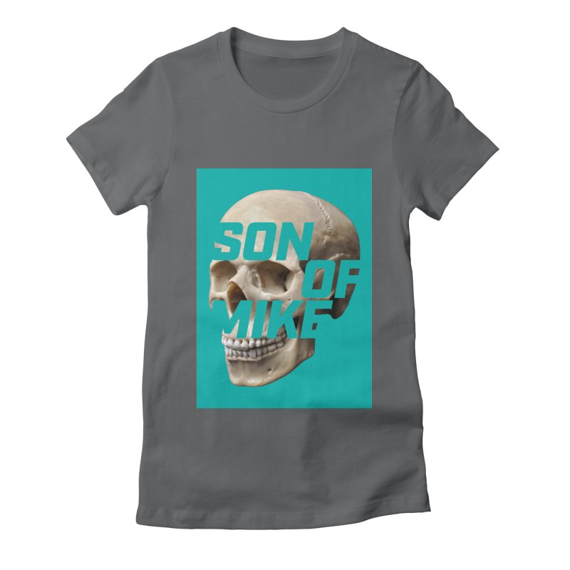 """SON OF MIKE """"Mint Skull"""" Women's Fitted T-Shirt by Turkeylegsray's Artist Shop"""