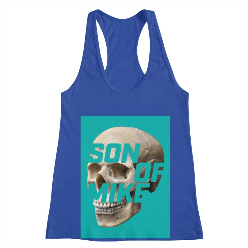 "SON OF MIKE ""Mint Skull"" Women's Racerback Tank by Turkeylegsray's Artist Shop"