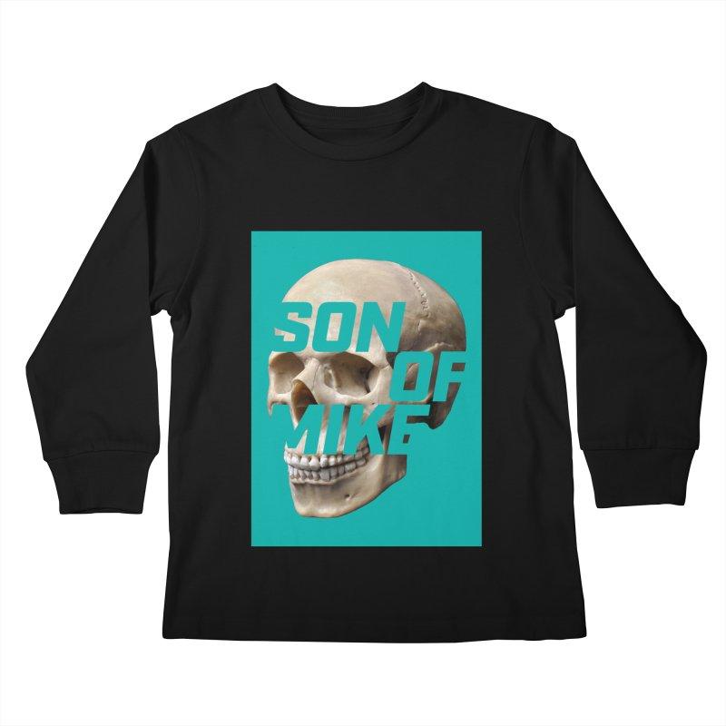 """SON OF MIKE """"Mint Skull"""" Kids Longsleeve T-Shirt by Turkeylegsray's Artist Shop"""