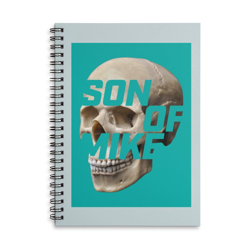 """SON OF MIKE """"Mint Skull"""" Accessories Lined Spiral Notebook by Turkeylegsray's Artist Shop"""