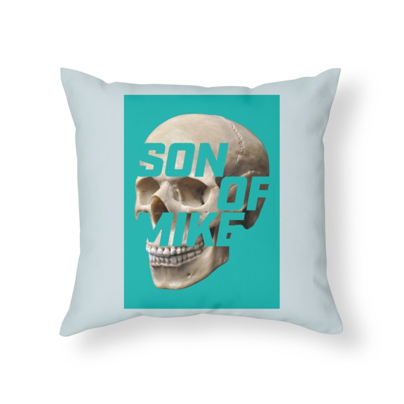 """SON OF MIKE """"Mint Skull"""" Home Throw Pillow by Turkeylegsray's Artist Shop"""