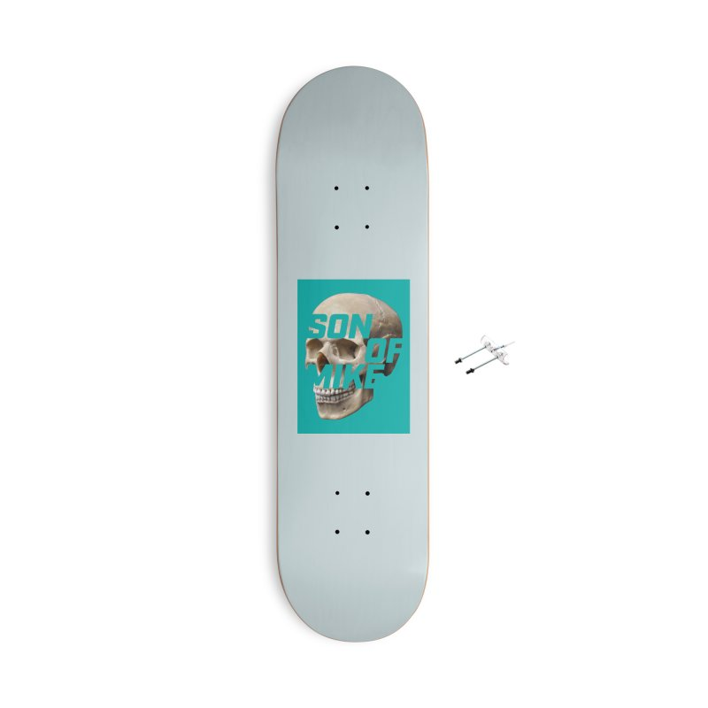 """SON OF MIKE """"Mint Skull"""" Accessories With Hanging Hardware Skateboard by Turkeylegsray's Artist Shop"""