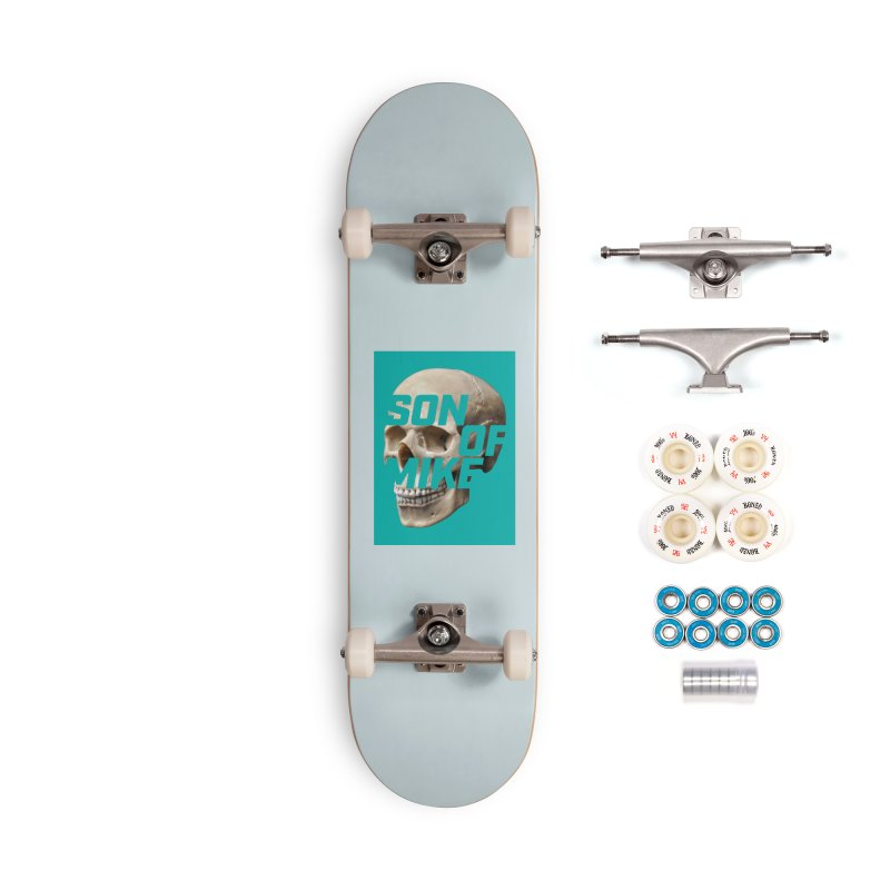 "SON OF MIKE ""Mint Skull"" Accessories Complete - Premium Skateboard by Turkeylegsray's Artist Shop"