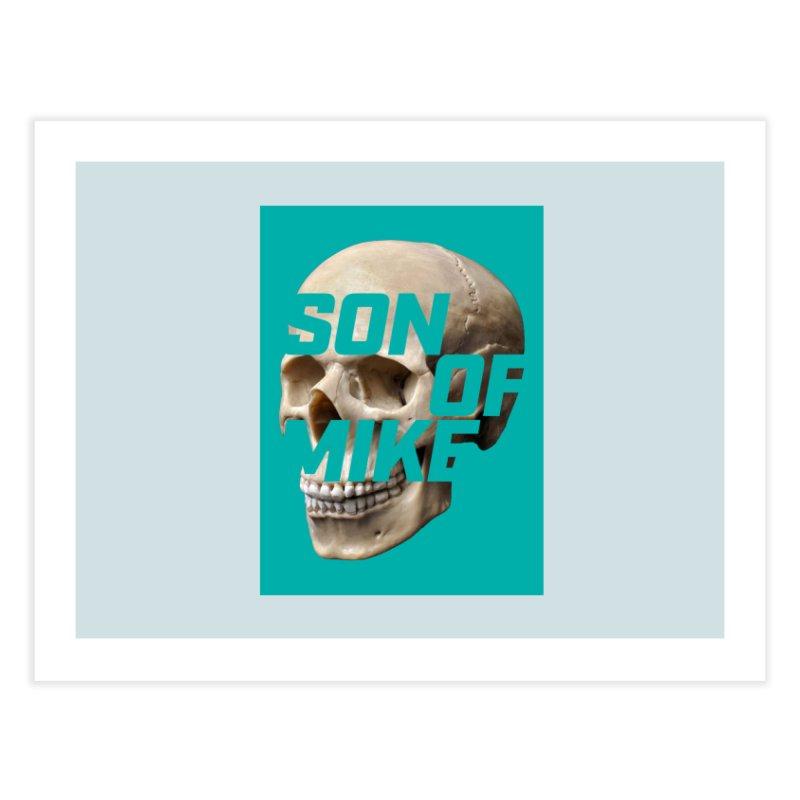 "SON OF MIKE ""Mint Skull"" Home Fine Art Print by Turkeylegsray's Artist Shop"