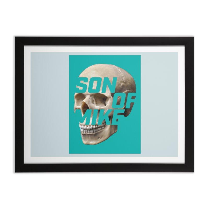 "SON OF MIKE ""Mint Skull"" Home Framed Fine Art Print by Turkeylegsray's Artist Shop"