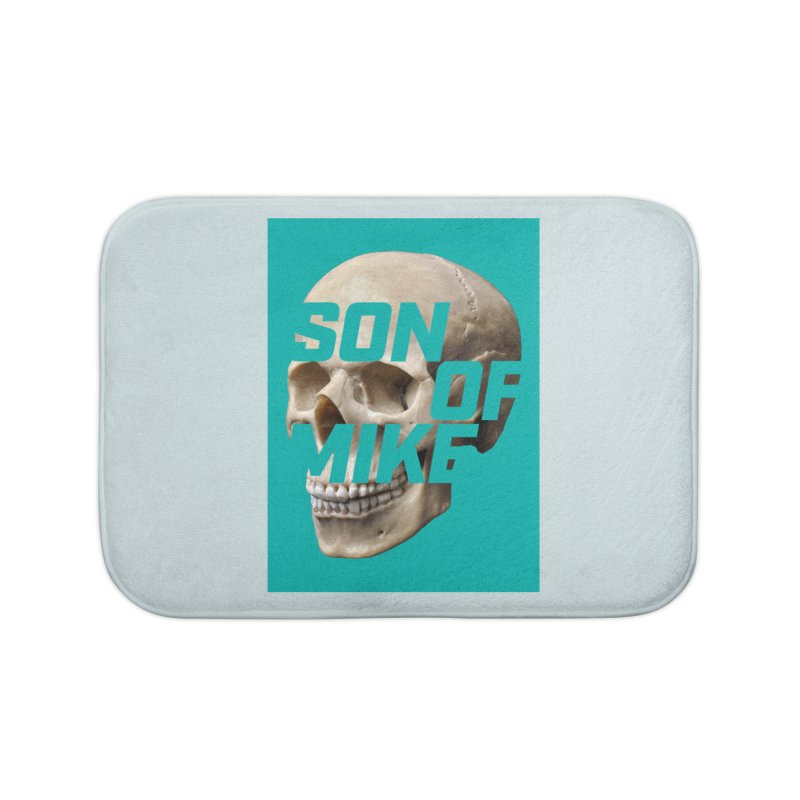 "SON OF MIKE ""Mint Skull"" Home Bath Mat by Turkeylegsray's Artist Shop"