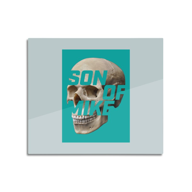 "SON OF MIKE ""Mint Skull"" Home Mounted Aluminum Print by Turkeylegsray's Artist Shop"