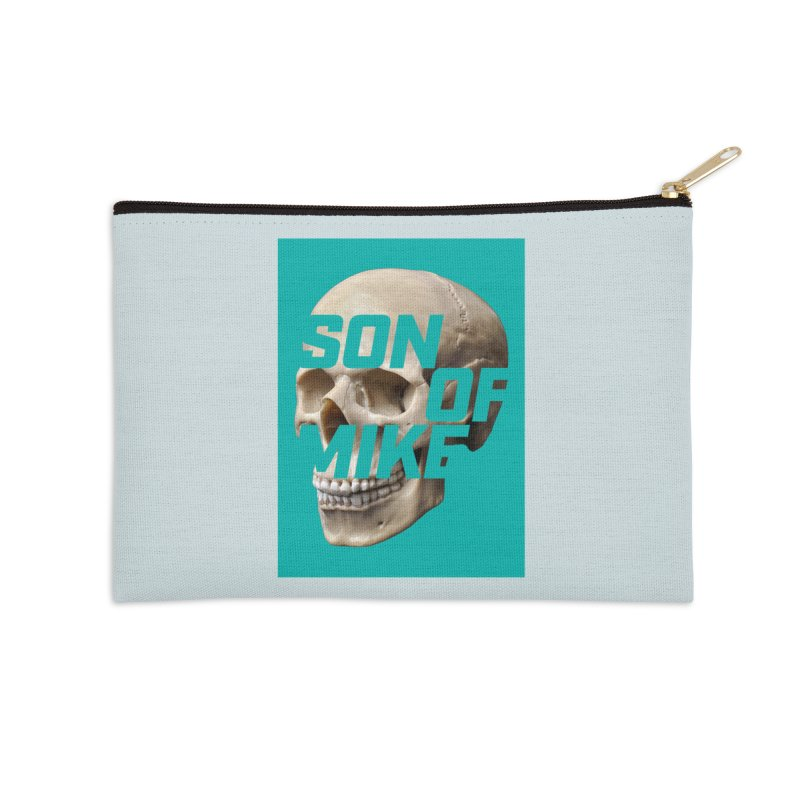 "SON OF MIKE ""Mint Skull"" Accessories Zip Pouch by Turkeylegsray's Artist Shop"