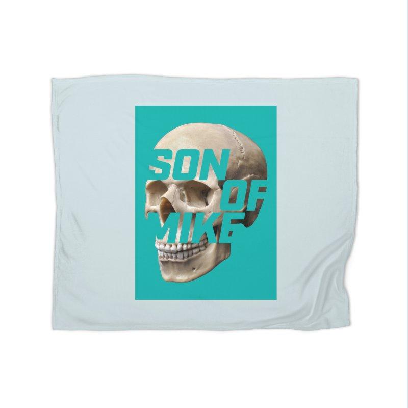 "SON OF MIKE ""Mint Skull"" Home Fleece Blanket Blanket by Turkeylegsray's Artist Shop"