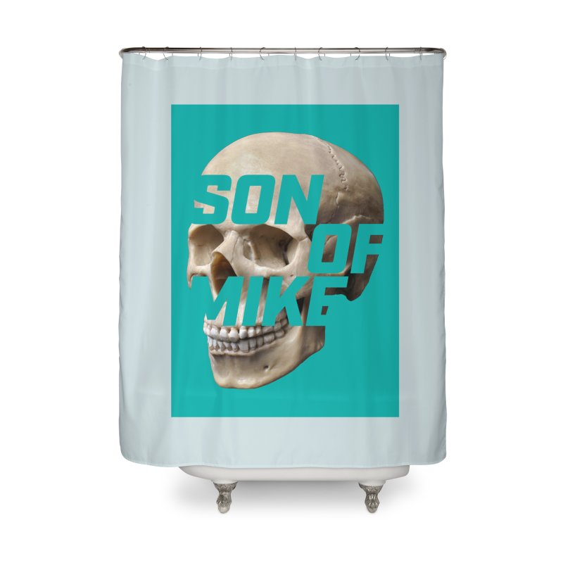 "SON OF MIKE ""Mint Skull"" Home Shower Curtain by Turkeylegsray's Artist Shop"
