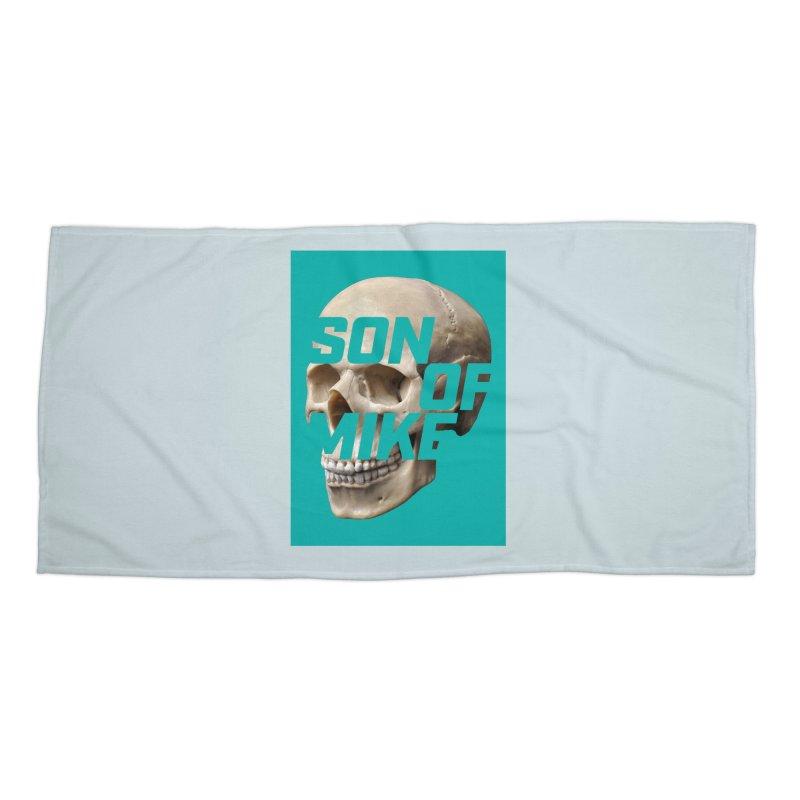 "SON OF MIKE ""Mint Skull"" Accessories Beach Towel by Turkeylegsray's Artist Shop"
