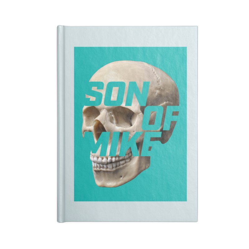 """SON OF MIKE """"Mint Skull"""" Accessories Lined Journal Notebook by Turkeylegsray's Artist Shop"""