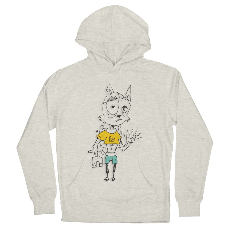 Wolf Guy Women's French Terry Pullover Hoody by Turkeylegsray's Artist Shop