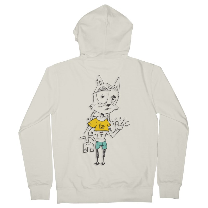 Wolf Guy Women's French Terry Zip-Up Hoody by Turkeylegsray's Artist Shop