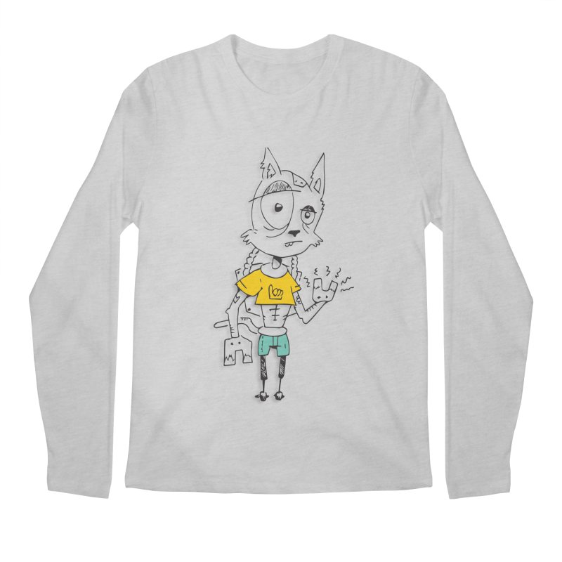 Wolf Guy Men's Regular Longsleeve T-Shirt by Turkeylegsray's Artist Shop