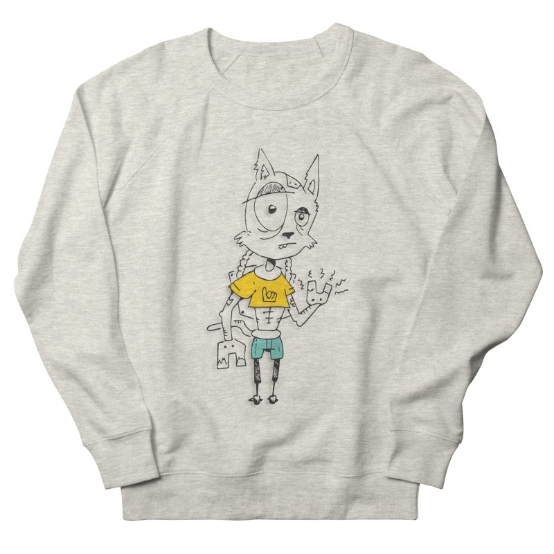 Wolf Guy Women's French Terry Sweatshirt by Turkeylegsray's Artist Shop