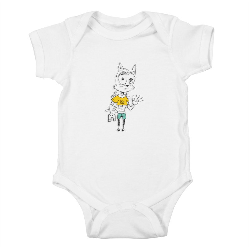 Wolf Guy Kids Baby Bodysuit by Turkeylegsray's Artist Shop