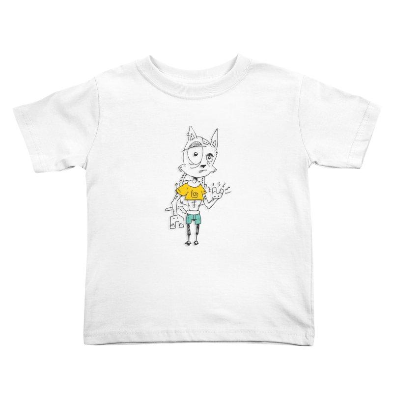 Wolf Guy Kids Toddler T-Shirt by Turkeylegsray's Artist Shop