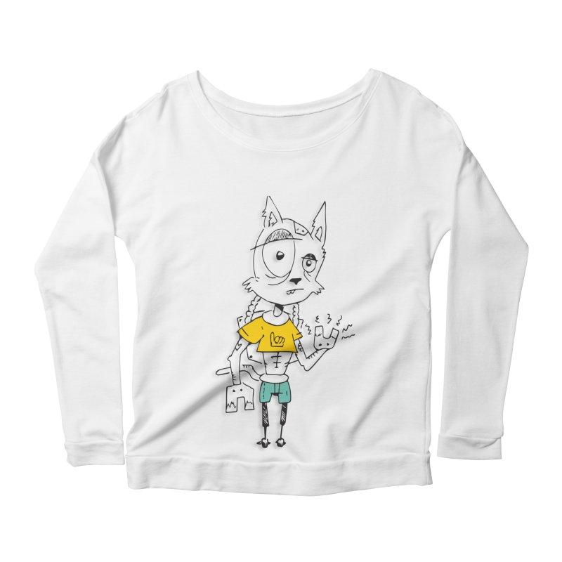 Wolf Guy Women's Scoop Neck Longsleeve T-Shirt by Turkeylegsray's Artist Shop