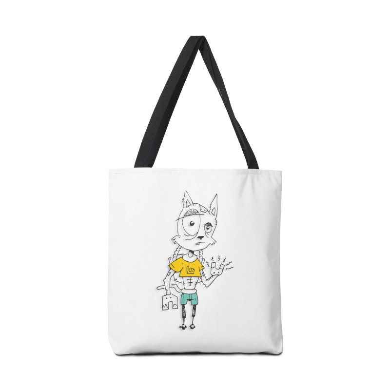 Wolf Guy Accessories Tote Bag Bag by Turkeylegsray's Artist Shop
