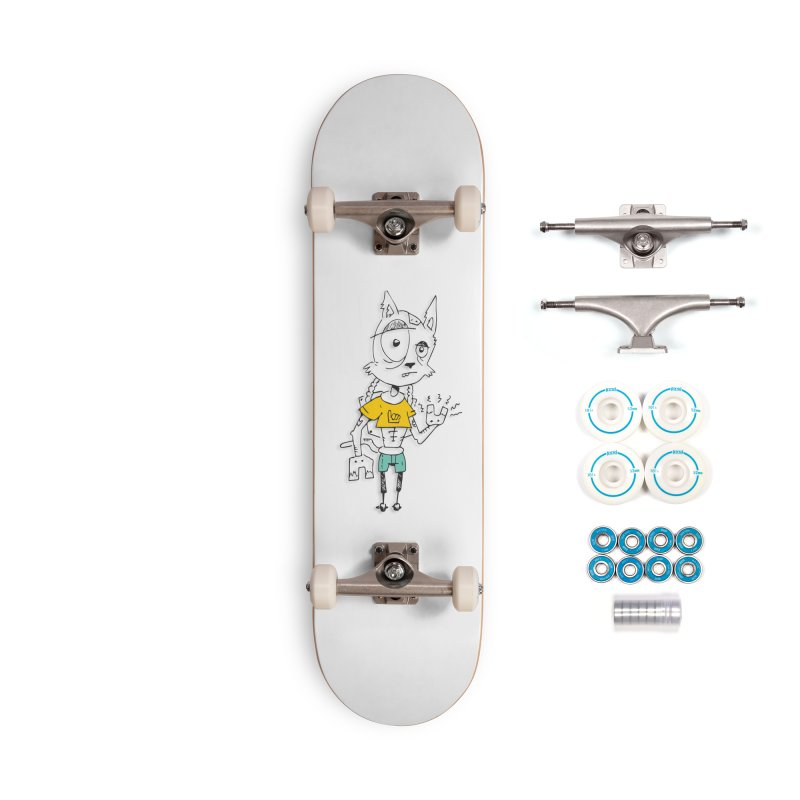 Wolf Guy Accessories Complete - Basic Skateboard by Turkeylegsray's Artist Shop