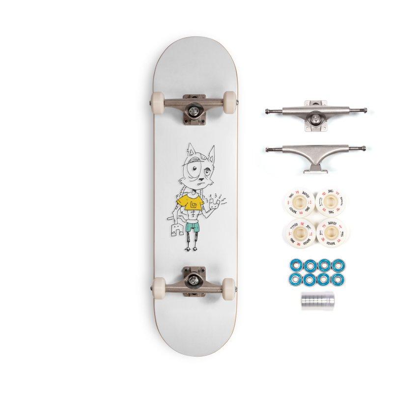 Wolf Guy Accessories Complete - Premium Skateboard by Turkeylegsray's Artist Shop