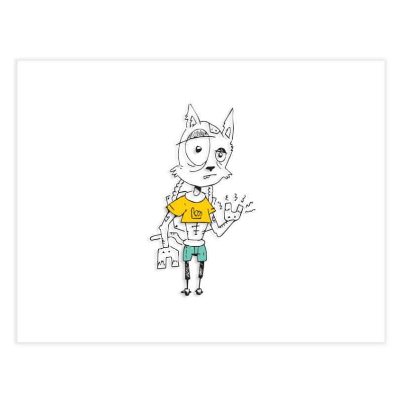 Wolf Guy Home Fine Art Print by Turkeylegsray's Artist Shop