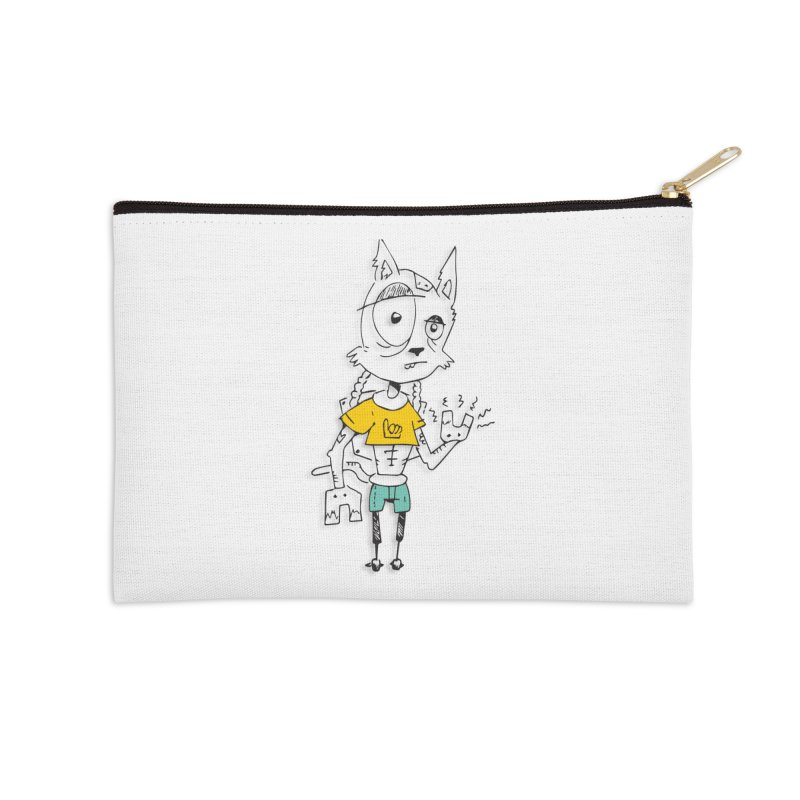 Wolf Guy Accessories Zip Pouch by Turkeylegsray's Artist Shop
