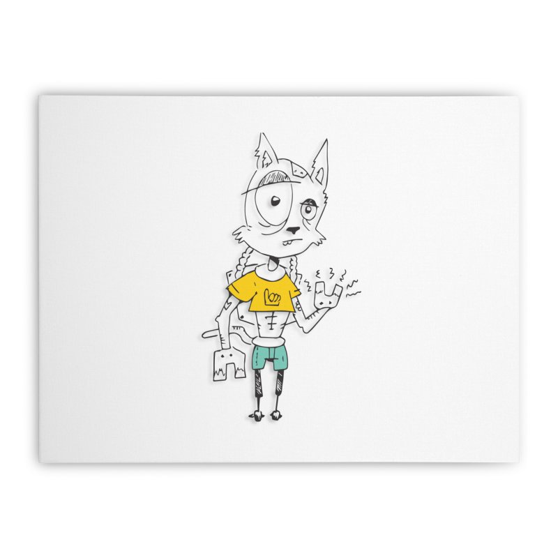 Wolf Guy Home Stretched Canvas by Turkeylegsray's Artist Shop