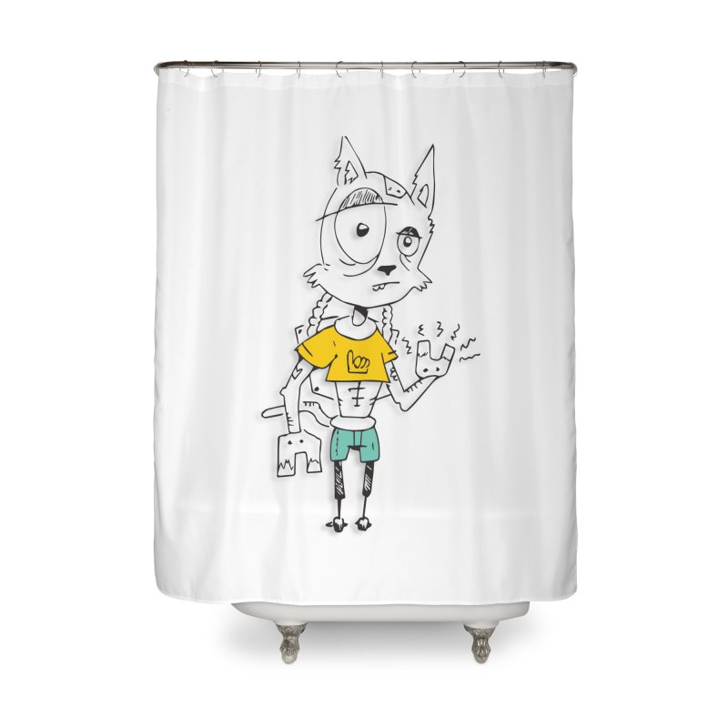 Wolf Guy Home Shower Curtain by Turkeylegsray's Artist Shop
