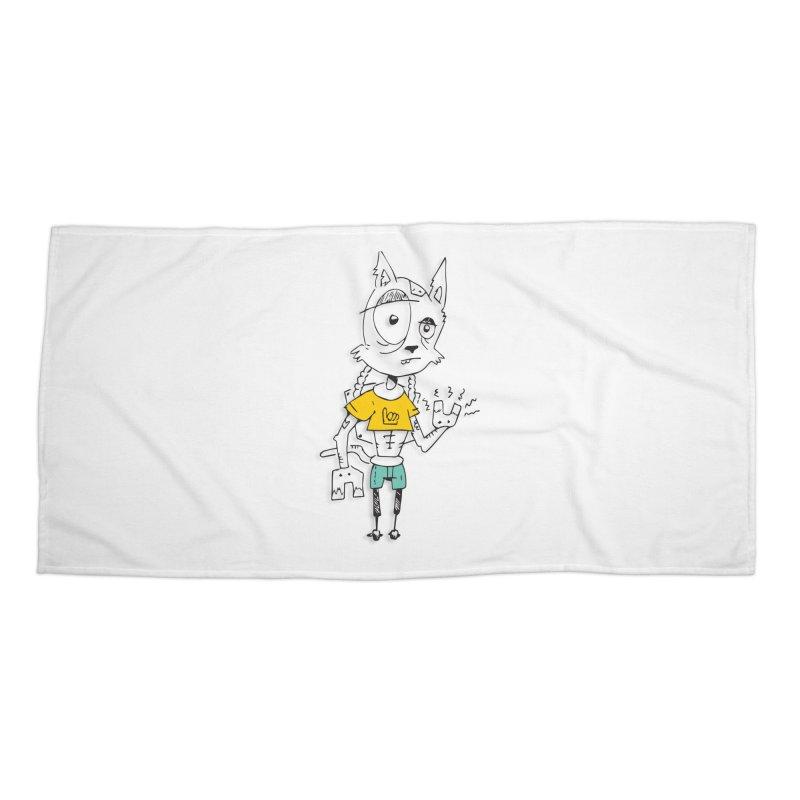 Wolf Guy Accessories Beach Towel by Turkeylegsray's Artist Shop