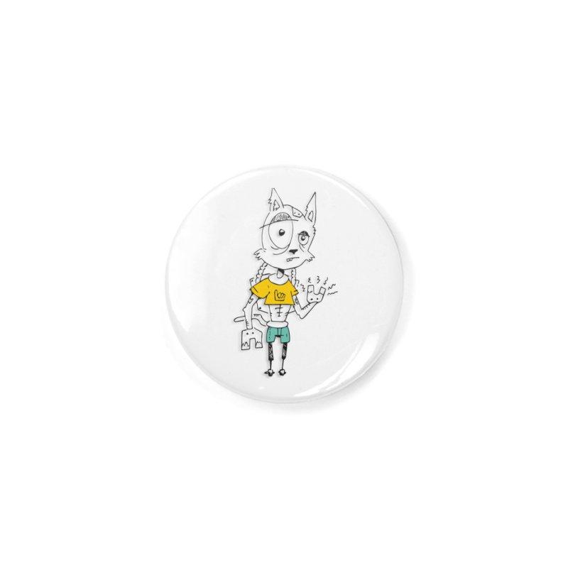 Wolf Guy Accessories Button by Turkeylegsray's Artist Shop