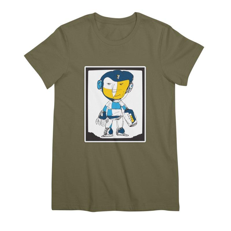 MEGAMAN Women's Premium T-Shirt by Turkeylegsray's Artist Shop