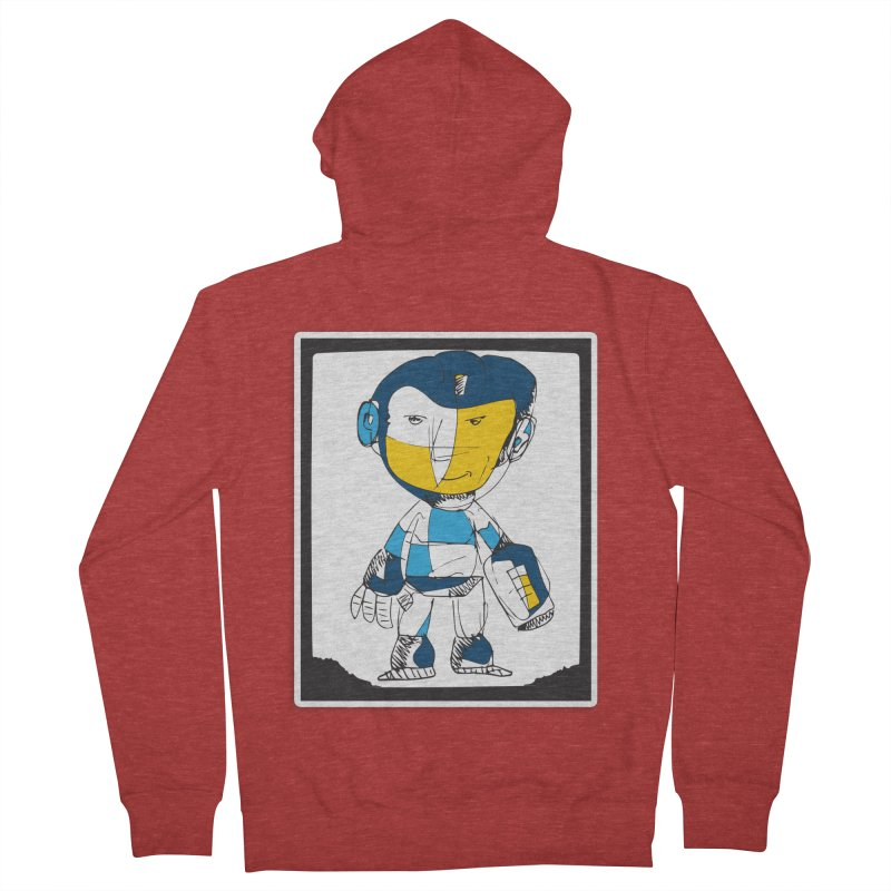 MEGAMAN Men's French Terry Zip-Up Hoody by Turkeylegsray's Artist Shop