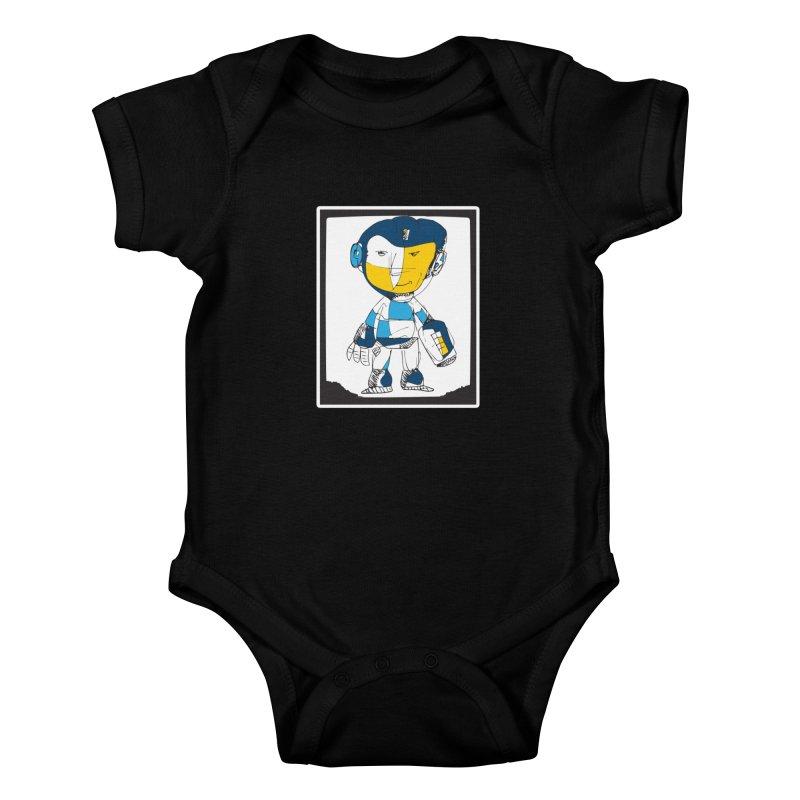 MEGAMAN Kids Baby Bodysuit by Turkeylegsray's Artist Shop