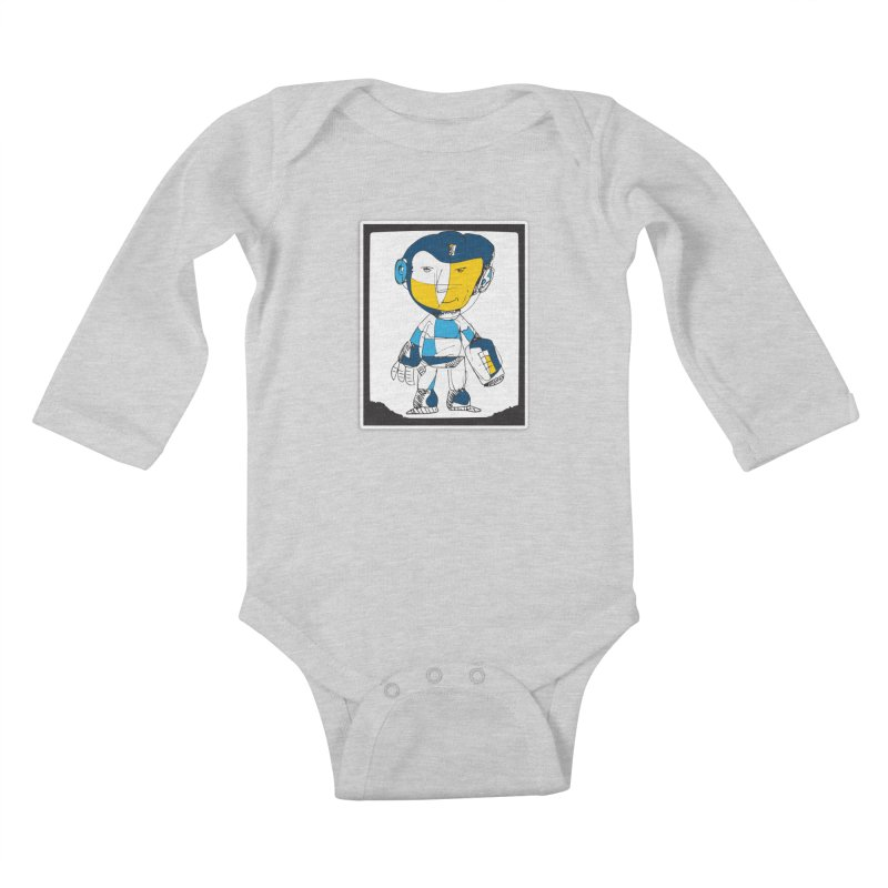 MEGAMAN Kids Baby Longsleeve Bodysuit by Turkeylegsray's Artist Shop