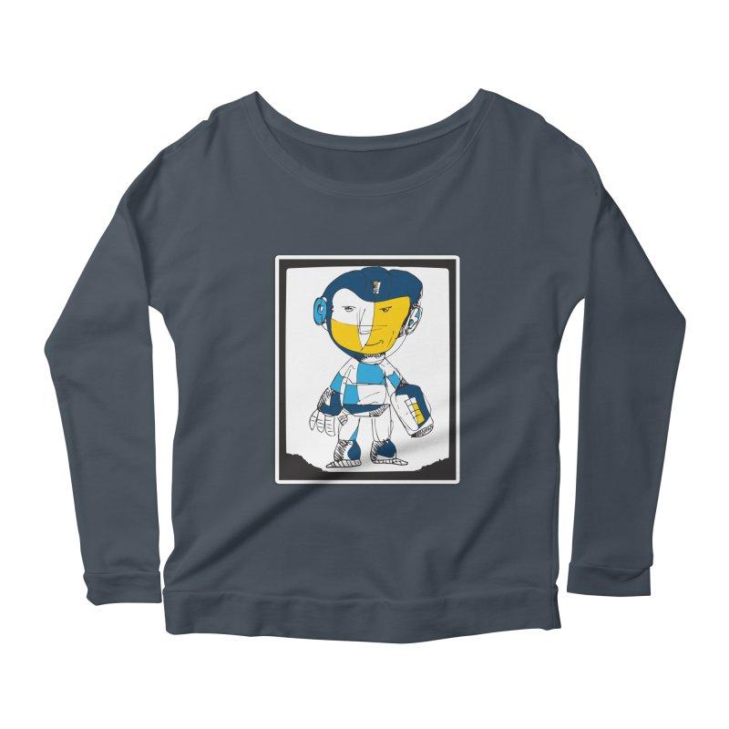 MEGAMAN Women's Scoop Neck Longsleeve T-Shirt by Turkeylegsray's Artist Shop