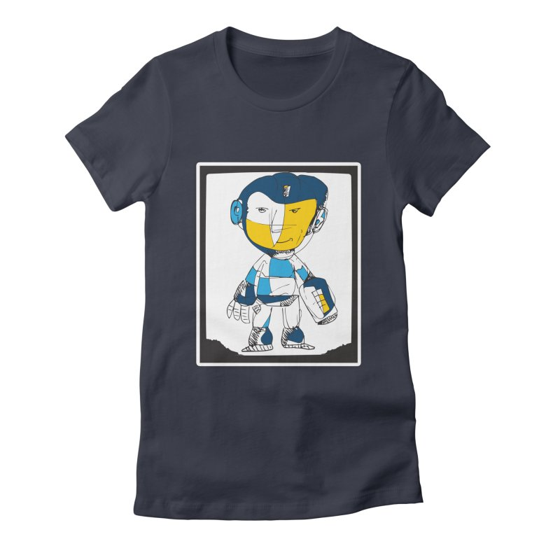 MEGAMAN Women's Fitted T-Shirt by Turkeylegsray's Artist Shop