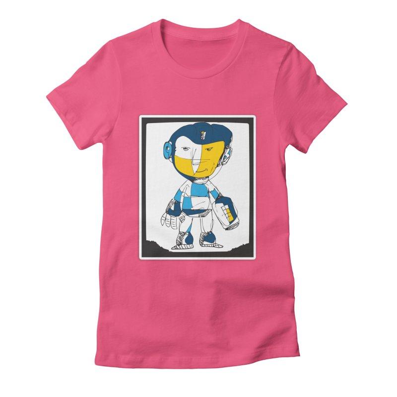 MEGAMAN Women's Fitted T-Shirt by Turkeylegsray's Artist Shop