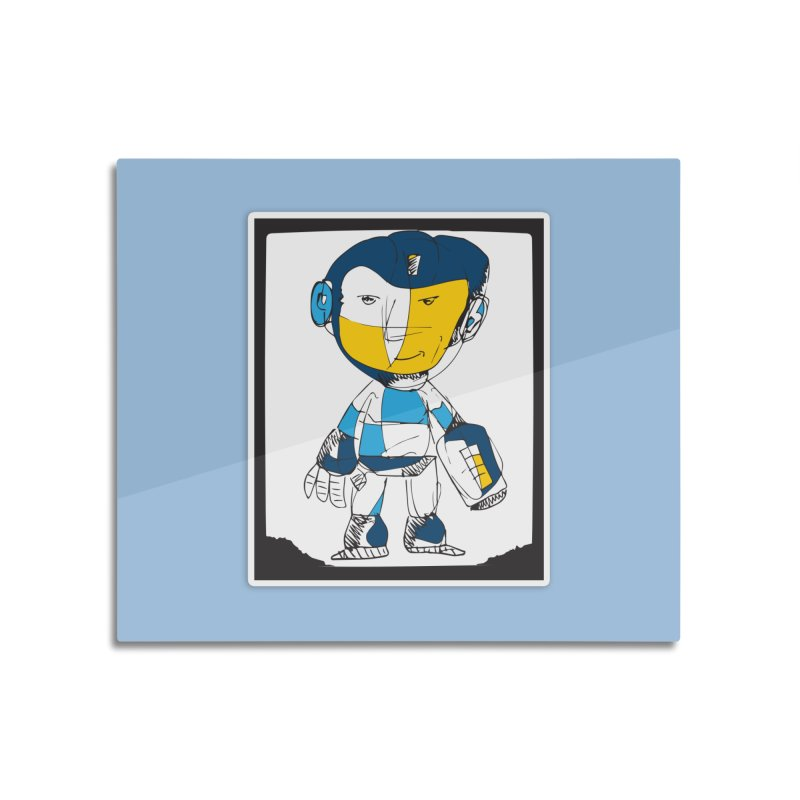 MEGAMAN Home Mounted Aluminum Print by Turkeylegsray's Artist Shop