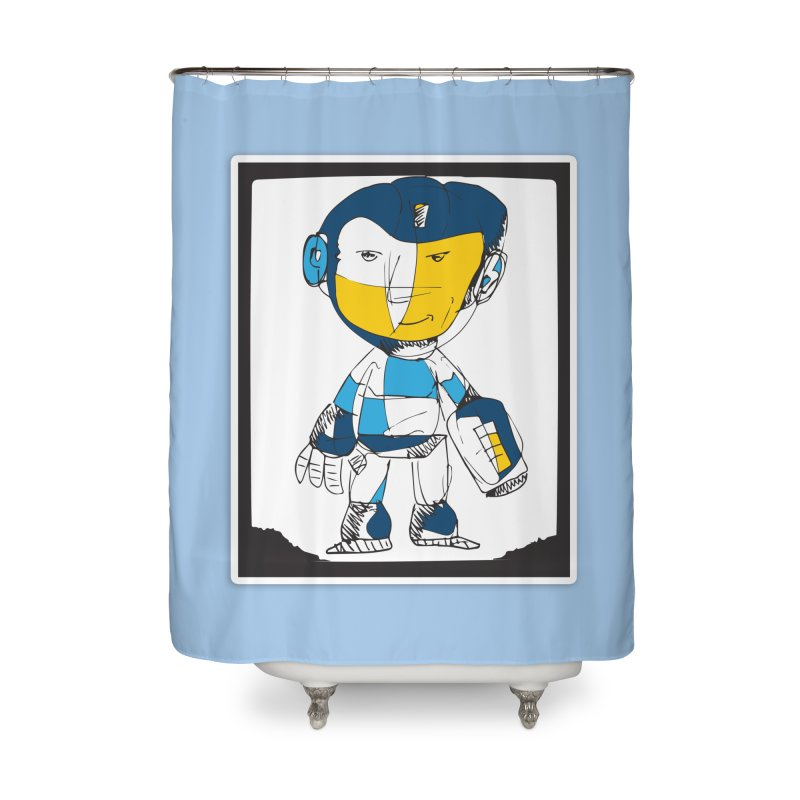 MEGAMAN Home Shower Curtain by Turkeylegsray's Artist Shop