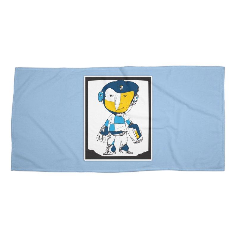 MEGAMAN Accessories Beach Towel by Turkeylegsray's Artist Shop