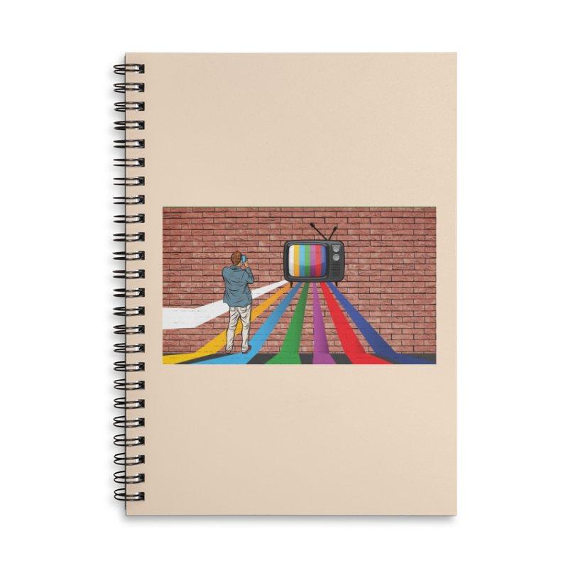 Brick Wall Accessories Lined Spiral Notebook by Turkeylegsray's Artist Shop