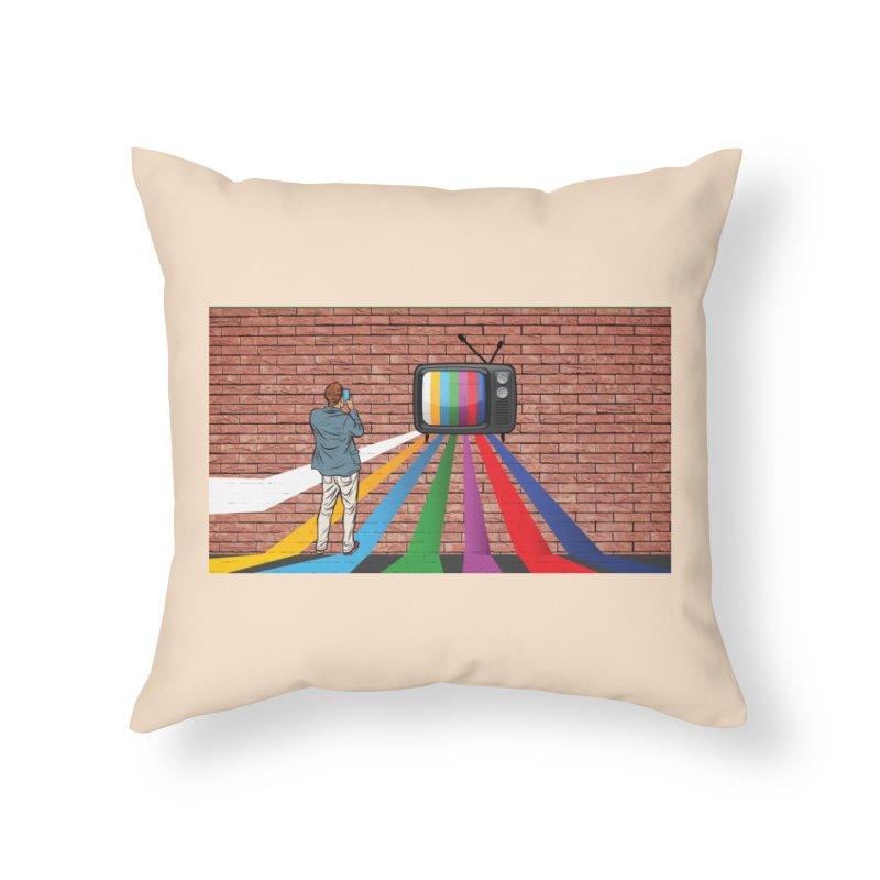 Brick Wall Home Throw Pillow by Turkeylegsray's Artist Shop