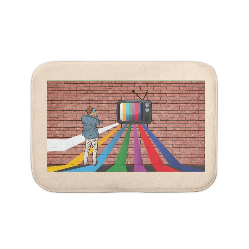 Brick Wall Home Bath Mat by Turkeylegsray's Artist Shop