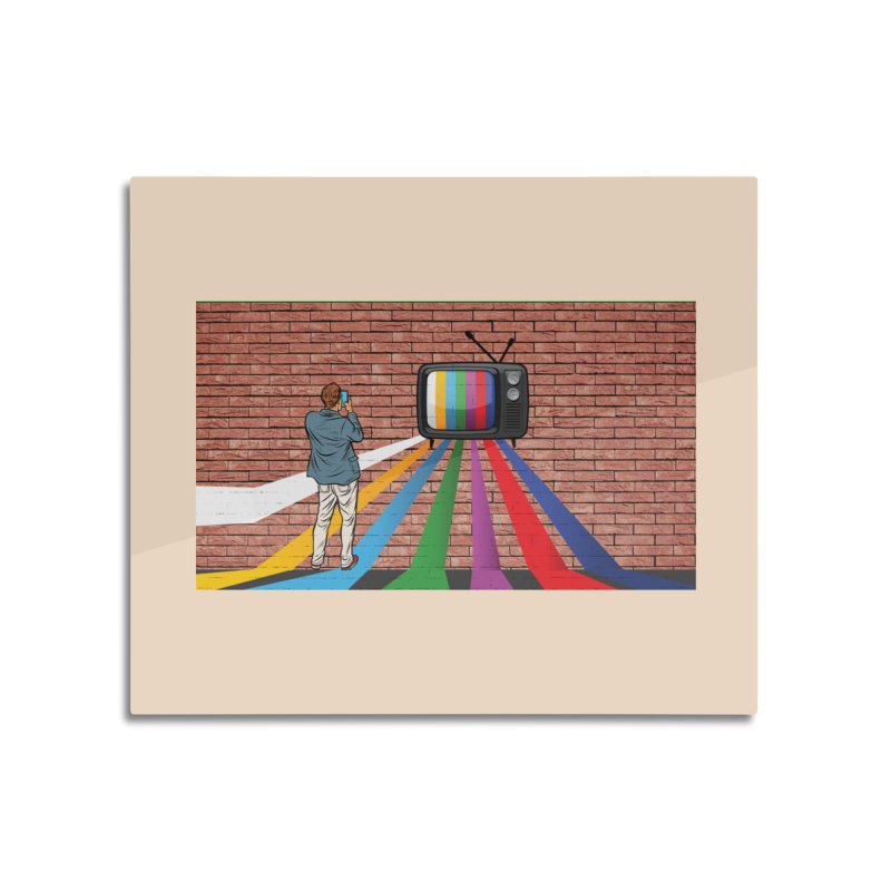 Brick Wall Home Mounted Aluminum Print by Turkeylegsray's Artist Shop