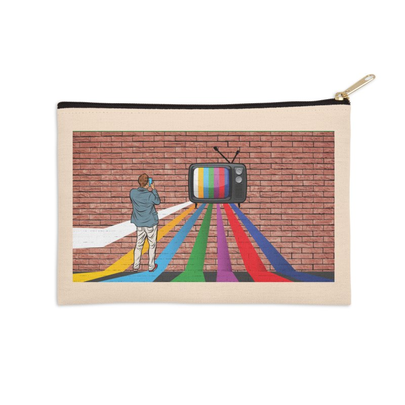 Brick Wall Accessories Zip Pouch by Turkeylegsray's Artist Shop