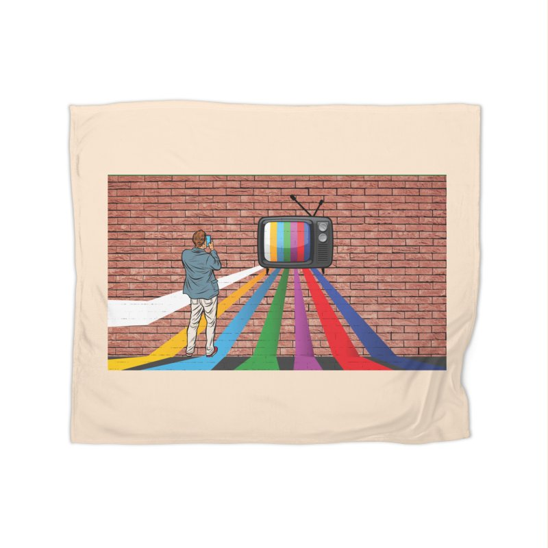 Brick Wall Home Fleece Blanket Blanket by Turkeylegsray's Artist Shop